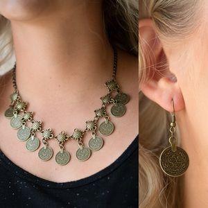 ❤️Walk The Plank - Brass Necklace Set